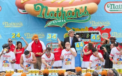 Az egyre népszerűbb Hot dog evő verseny